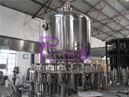 Stainless Steel Juice Hot Filling Machine , Silver Gray Monoblock Filling Machine