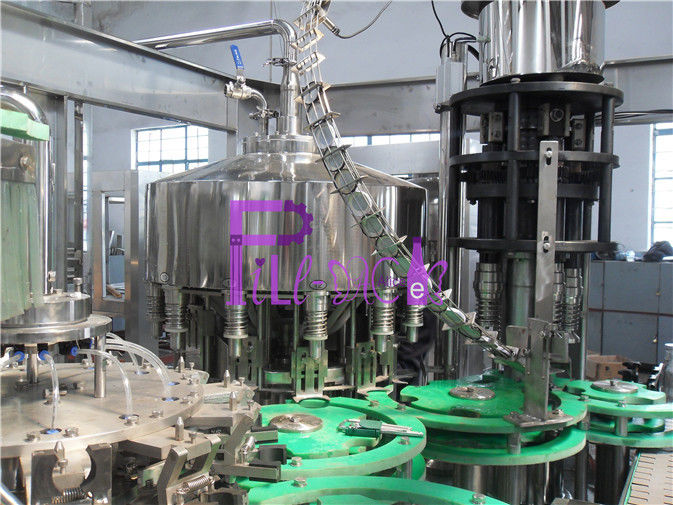 4.2Kw Full Automatic Non - Gas Juice Drink Filling Machine For Glass Bottle