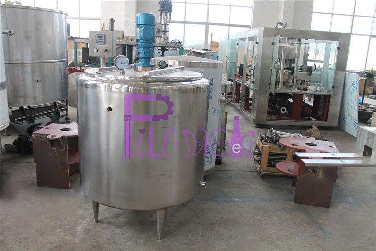 Double Wall Electric Heating Sugar Melting Pot / Tank For Soft Drink Production Line