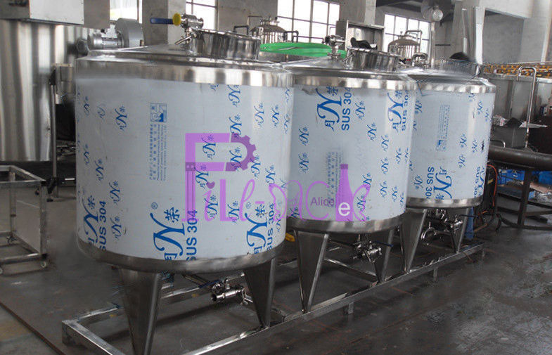 CIP Cleaning System Soft Drink Processing Line Semi Auto With 500L Tank
